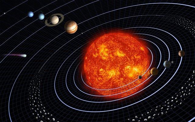 Pluto solární systém
